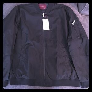 Black Zara Bomber Jacket